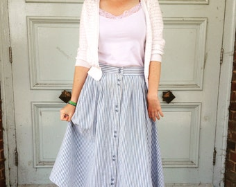 Vintage Nautical Stripe Skirt