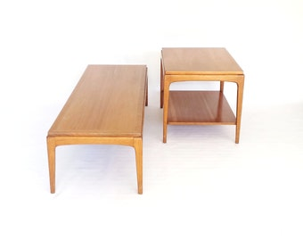Mid Century Lane Rhythm Tables Danish Modern Coffee Table and End Table Pair