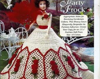 Ladies of Fashion Rebecca's Party Frock Fashion Doll  Crochet Pattern  The Needlecraft Shop 9662516