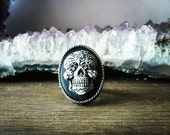 Sugar Skull Ring - Cameo Adjustable