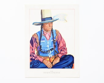 Vintage Native American Litho Print by Winold Reiss - Plume