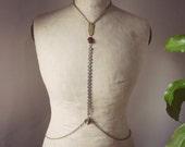 TOTEM - boho vintage tribal witch steampunk body jewel, body chain