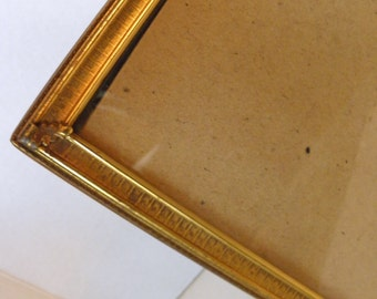 8x10 Gold Metal Picture Frame Easel Backing - Mildred