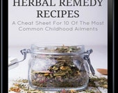 Herbal Remedy Recipes: A Cheat Sheet For 10 Of The Most Common Childhood Illnesses