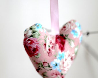 Pink Hanging Heart for Shabby Chic Vintage Home Decor