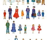 Mary Poppins Clipart Vintage Doll Art Set 28 Illustrations Printable Digital Download Disney Movie 1973 Paper Party Craft - Poppins Birthday