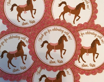 Horseback Riding Birthday Party Favor Tags