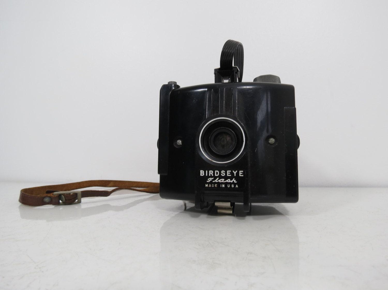 Vintage Birdseye Flash Camera Untested Black Plastic Cube