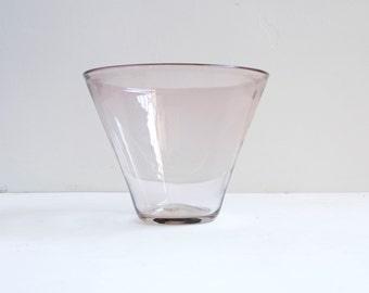 Amethyst Blenko Large Modern Glass Salad Fruit Bowl