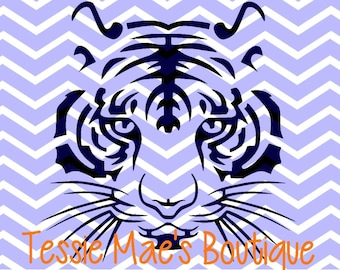 Tiger Face Instant Download Digital Design SVG, DXF, EPS