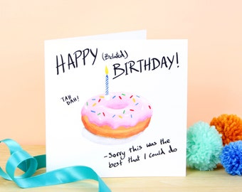 Happy (Belated) Birthday Doughnut Greetings Card