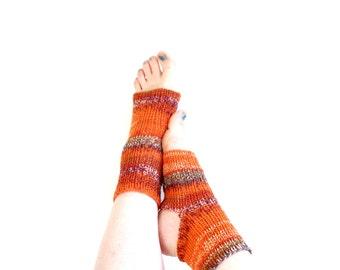 Wholesale a lot of 10 hand knit yoga socks, pilates socks, dance socks