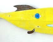 Paul ANCHOR #6, Reclaimed wood and rusty steel, whimsical funky fish wall art