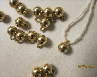 6mm, Gold-finished Pewter (Zinc-based Alloy) Drops - 4 Charms or, choose a Larger Pkg from the 'Select an Option' menu