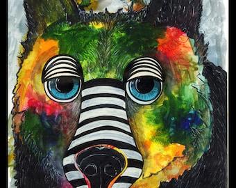 Print Raining Color Bear
