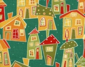 Marmalade Cottage - Teal, 2/3 Yard