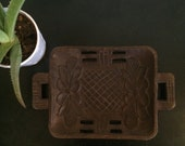 Hand carved small serving tray