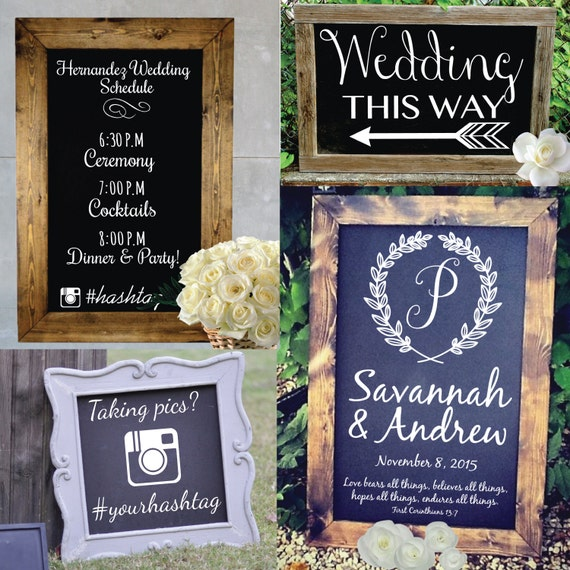 Customized Wedding Signs Typography - Wall Decal Custom Vinyl Art Stickers