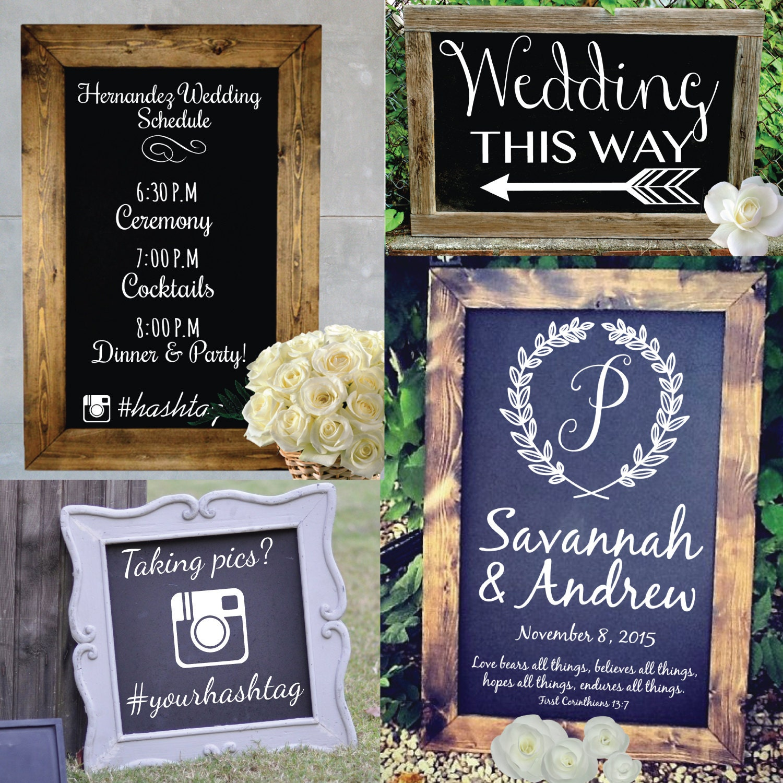Customized Wedding Signs Typography Wall Decal Custom Vinyl