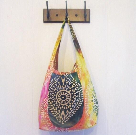 Tote Bags Juniors Hippie Bag Batik Fabric Tote
