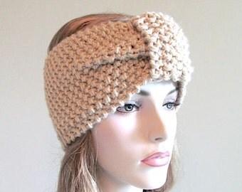 Instant Download PDF Knitting Pattern Headband Chunky Ear Warmer Fall Winter Boho Accessories Headcovers Womens Girls Headwrap