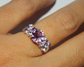Alexandrite Ring, Cocktail Ring, Dinner Ring, Color Changing Stones, Multi Stone Ring