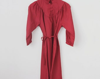 Vintage 80s Long Sleeve Dress