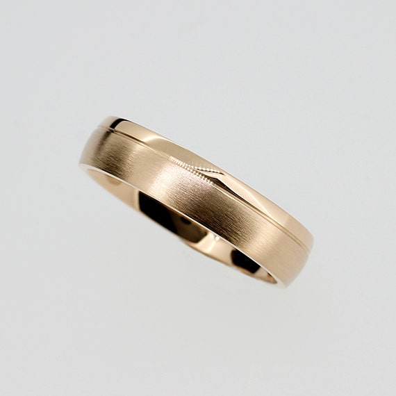 500mm Wide Yellow Gold Wedding Band Mens Ring