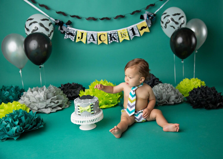 LITTLE MAN BANNER / 1st birthday boy / Little man birthday /