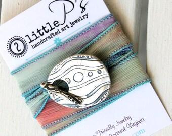 Beach Jewelry  Silk Wrap Bracelet  Sea Life  Fun gift  Teen Girl