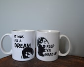 "Tupac Shakur ""Keep Ya Head Up"" and Notorious BIG ""It Was All A Dream"" Coffee Mugs"