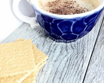 Faceted Mug Choose Your Color Geo Modern Design Like Gem For Coffee & Tea Porcelain Pottery MADE TO ORDER