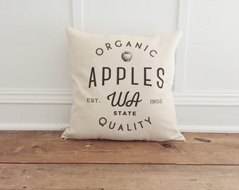 Organic Apple Pillow Cover