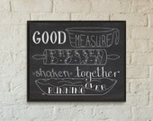 SALE // Mistake Print // Good Measure // Cooking Artwork // Kitchen Typography // Quote About Cooking // Luke 6:38