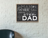 Step Dad Gift, Step Dad Father's Day, Step Dad Wedding Gift, Father's Day, Inspirational Quote