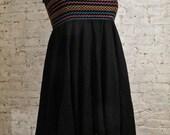 70s Strapless Cotton Gauze Dress with Hankie Hem