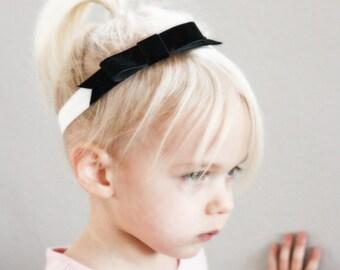 Black Tie Event Headband- Baby to Adult Headband