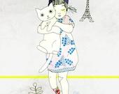 "A5 A4 A3 Artprint ""Gigi"" Izumi (Kinu serie) (limited edition)"