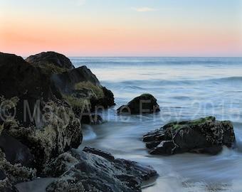 Calm Cool Sunrise at Sea Girt Beach NJ
