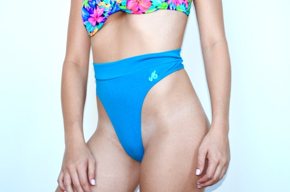 Vintage 80 s high waisted thong workout by topshelfvintageco
