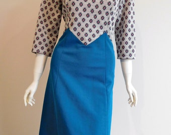Cute Retro Dress 60s 70s Size Large