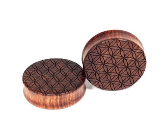 Handmade Sacred Geometry Chechen plugs
