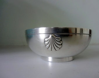 RESERVED FOR C- French Hallmarked Antique Silver Plate Art Deco Bowl - Manufacturer Stamp - Excellent Condition