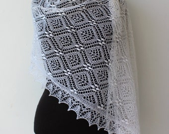 White wedding lace shawl, Haapsalu shawl, Estonian lace