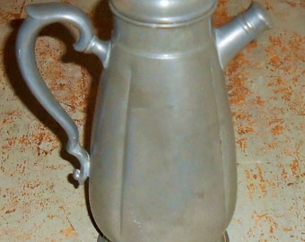 Vintage Tea Pot, Pewter, Martini Shaker, Coffee Pot, Water Pitcher, Cocktail Shaker, Barware, Drink Shaker, Pewter Decor