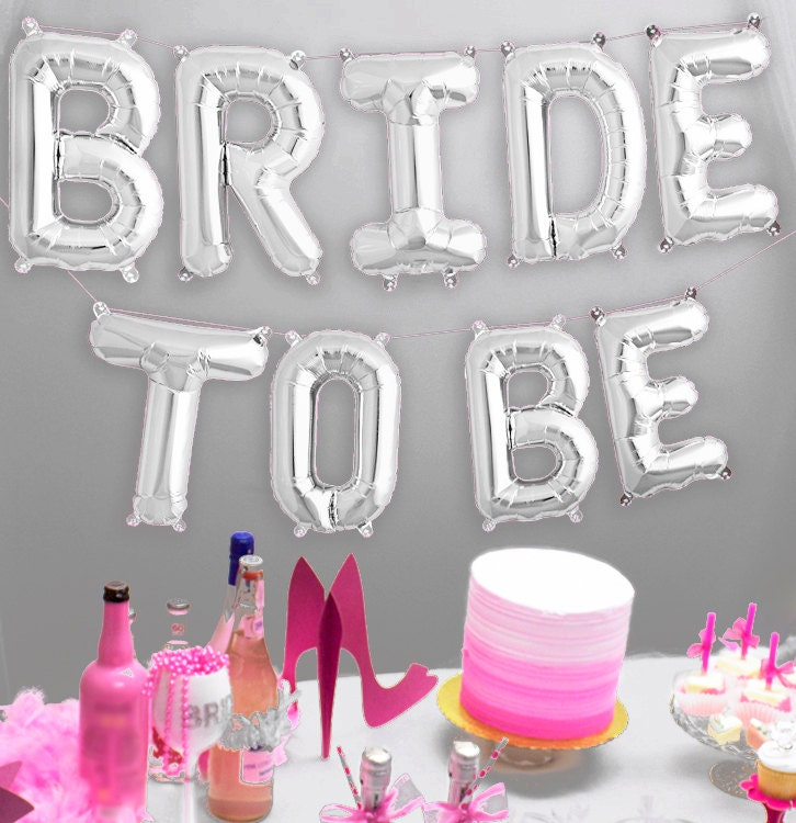 Bridal Shower Decorations Mylar Letters Balloon Kit By