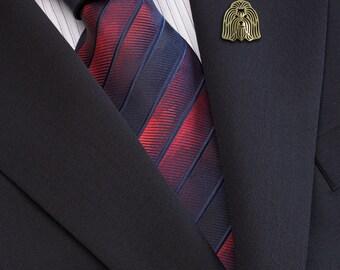 Coton de Tulear brooch - gold.