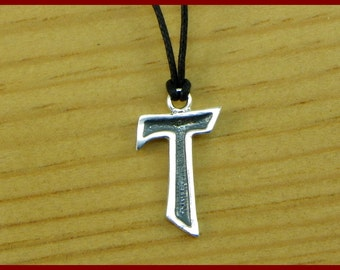 """Cross """"TAO"""" in Sterling silver 925 - made in italy"""