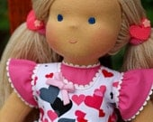 """Waldorf doll - """"Liza"""" -15 inches, custom dolls for children from 5 years old, daughter of a gift"""