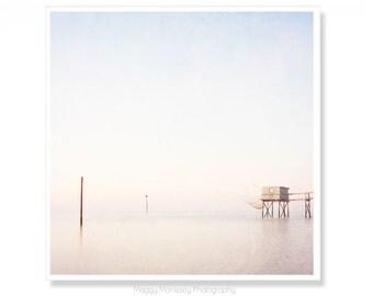 Paste Wall Art, Ocean Photography, Beach Cottage Decor, Beach Art, Minimalist Seascape, Minimalism, Ocean Photography